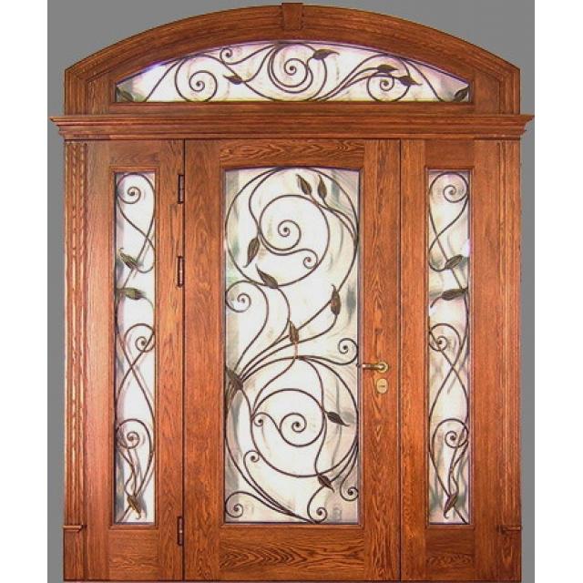 железная дверь с арочным элементом